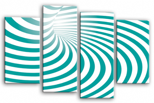 Abstract Wall Art Teal White Swirls Canvas Picture Print